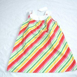Gymboree Strawberry Sweetheart Stripe Button Dress